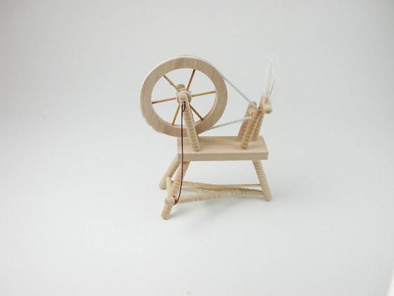 Spinnradl, for the doll parlor, the doll's House, Dollhouse miniatures, cribs, miniatures, Model # v 22103