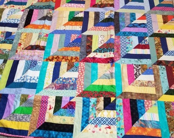 Large throw quilt