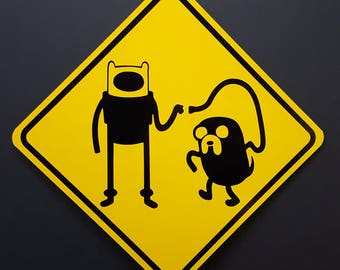 Adventure Time Yellow Metal Sign