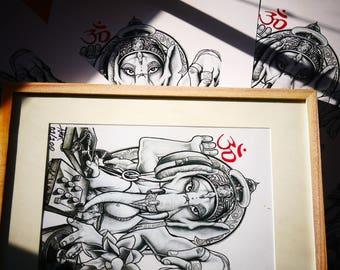 Ganesha Arta Artwork / Limited 100 A3 Prints