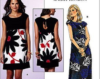 Keyhole Back Summer Dress by Maggy London for Butterick 5456 Fast and Easy *Size 8-10-12-14