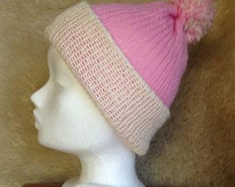 Woollen Bobble hat - Beanie Hat - pure wool Merino blend