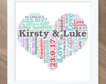 Personalised Word Art Word Cloud Print - Any design, occasion, colour