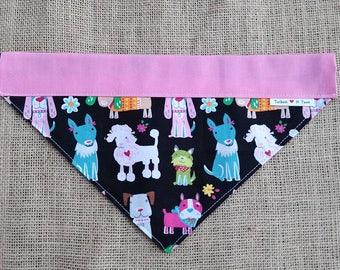Fancy Doggie Bandana Double Sided Collar Style