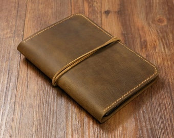 Personalized Vintage Distressed genuine real leather iPad mini 2 3 4 case cover sleeve / iPad mini organizer case  -IMX005S