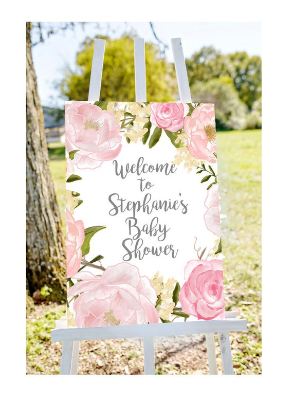 Amazing Baby Shower Welcome Sign Welcome To Baby Shower Sign Pastel