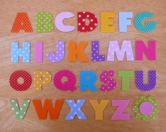 Box Style Iron on Fabric Alphabet (A-Z) - 3.2cm Uppercase alphabet letter appliques - made to order, ships from UK