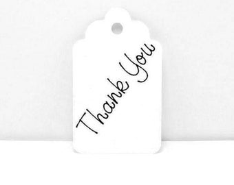 12 Thank You Gift Tags, Thank you Tags