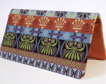 Checkbook Cover, Bohemian, Boho, Gift For Her, Money, Checkbook Holder, 70s, Hippie, Wallet, Gift Under 15