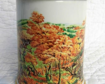 Franklin porcelain. Franklin porcelain. Keilerjagd Sammlerkrug. 1980 Limited Edition in fine porcelain and solid Tin.