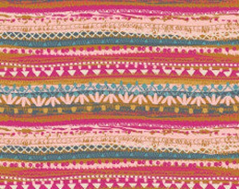Fabric - Art Gallery - Trinket Blush From Indie Folk Designed By Pat Bravo - cotton print.