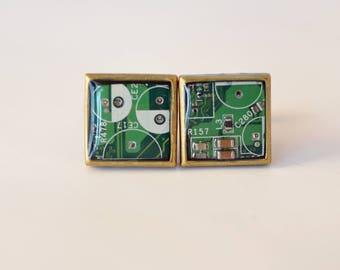 BeautIT cuff links for men | Geeky green cufflinks  | Modern geek cufflinks