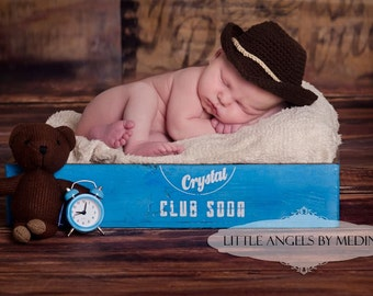 Yee haw gidee up partner- Newborn Cowboy hat