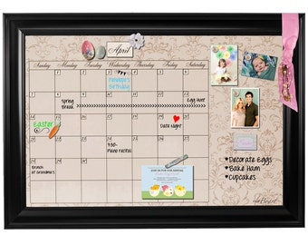 Framed Whiteboard Calendar, Framed Dry Erase Calendar