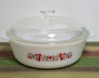 Vintage Fire King Primrose Casserole Dish