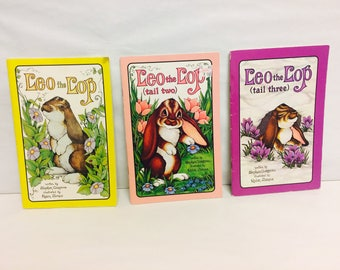 Serendipity Books, Leo the Lop, Tail Two, Tail Three, Set of Three, Bunny Rabbit Books, Children's Book Set, Stephen Cosgrove, Robin James