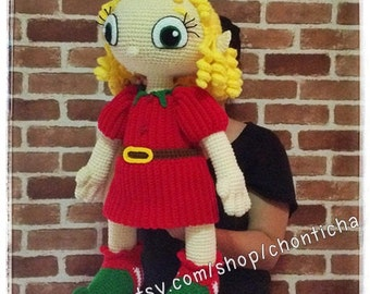 Elf girl 22 inches - PDF amigurumi crochet pattern