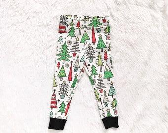 Christmas Tree//Organic baby leggings/Christmas baby leggings/Christmas newborn leggings/Christmas toddler leggings/Christmas kids Pants