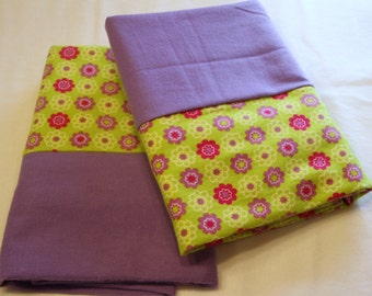 Green and Purple Pillowcases