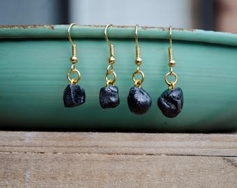Lump of Coal Earrings