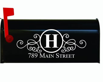 Custom Personalized Vinyl Mailbox Decal #4 - SET OF 2 - 16 Colors To Choose From!