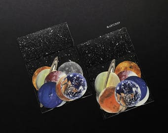 Water Colour Planet Sticker Pack