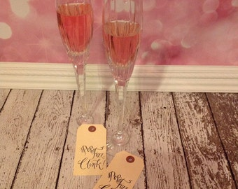 CLEARANCE Pop Fizz Clink calligraphy rubber stamp