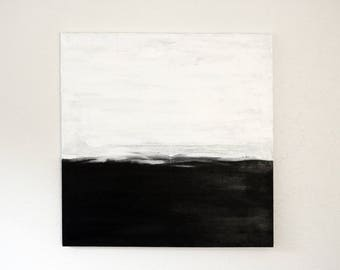 Large Abstract Painting on Canvas, Black and White Abstract Original, Abstract Painting Canvas Original, Large Abstract Painting, Canvas