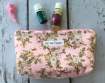 New  Essential Oil bag, travel case,  Live Your Passion holds 12)
