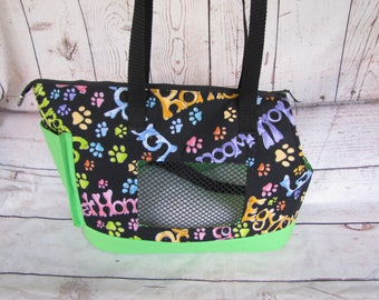Black and Green Large Dog Carrier