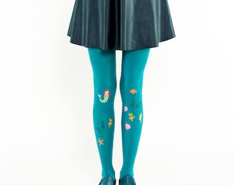 ARIEL tights, mermaid tights / gift ieas for girls