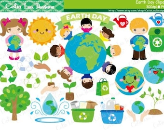 Earth Day Clipart , Environment Clipart, Recycle Clip art, World clipart (CG131) / INSTANT DOWNLOAD