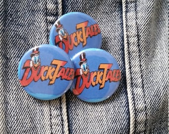 DuckTales Duck Tales cartoon tv show handmade 1-1/4 inch pinback button pin pins buttons pingame badge badges