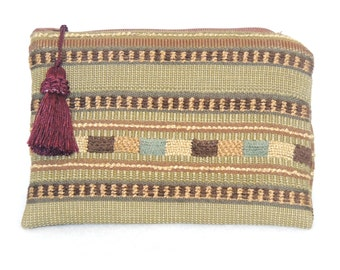 Tribal pouch, small wallet, tapestry pouch