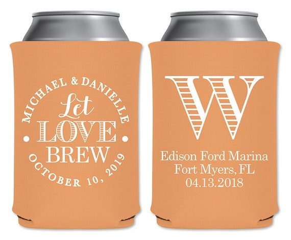 Kool A Brew Can Coolers ~ Let love brew a personalized foam can coolers beverage