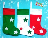 Personalized Christmas Stocking Holder Xmas stocking Christmas Gifts Christmas Decor Red green sock white green socks white red sock