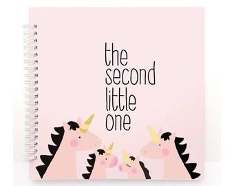 the second UNICORN - Baby Book, Baby Memory Book, Baby Shower Gift, Baby Journal, Baby Album, Keepsake
