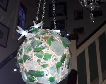 Meer-Glas-Windlicht