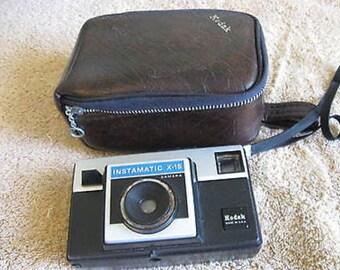 Kodak Instamatic X-15 w/ Case  Vintage C11-5