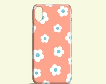 Retro Floral phone case /  iPhone X / iPhone 8 / retro iPhone 7 case / daisy iPhone 7 Plus / iPhone 6S / iPhone and Samsung Galaxy S cases