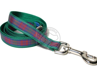 Lindsay Clan Tartan Leash // Matching Tartan Dog Leash in all widths // custom lengths // Plaid Leashes // Tartan Lead // Handmade Leash