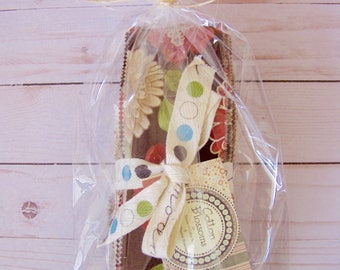 """Cotton Blossoms (Dark Colorway) """"Unrolled"""" Jelly Roll by Bonnie of Cotton Way and Camille of Thimble Blossoms"""