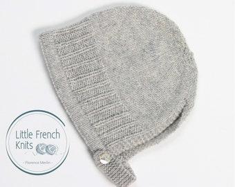 42 / Bonnet Bébé / Explications tricot en Anglais / PDF Téléchargement Instantané / 4 Tailles : Naissance à 24 mois