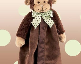 Personalized Giggles Monkey Snuggler