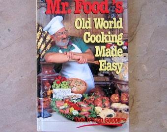 Mr food recipe book etsy mr foods old world cooking made easy cookbook art ginsburg mr food cookbook vintage forumfinder Images