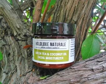 Green Tea & Coconut Oil Face Moisturizer– Natural Face Cream– Organic Green Tea Face Cream – Face Moisturizer