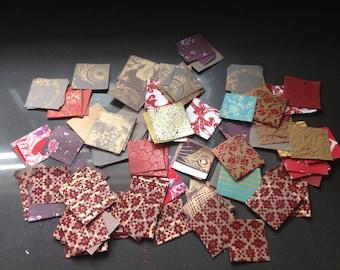Paper scraps, scrap paper, squares