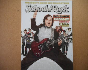 Magnet School of Rock Jack Black movie poster magnet rock and roll children movie