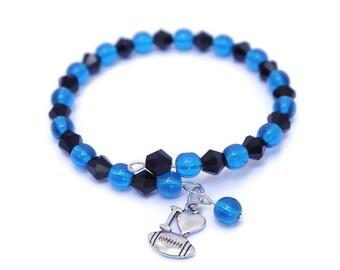Custom Team Spirit Wear - Football Mom Bracelet - Football Spirit Gifts - Sports Team Bracelet - Football Fan Gear - Team Sports Wear