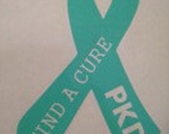 Polycystic Kidney Disease Awareness Vinyl Decal